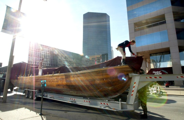 The Discovery Expedition of St. Charles was recreated by more than 200 volunteers.