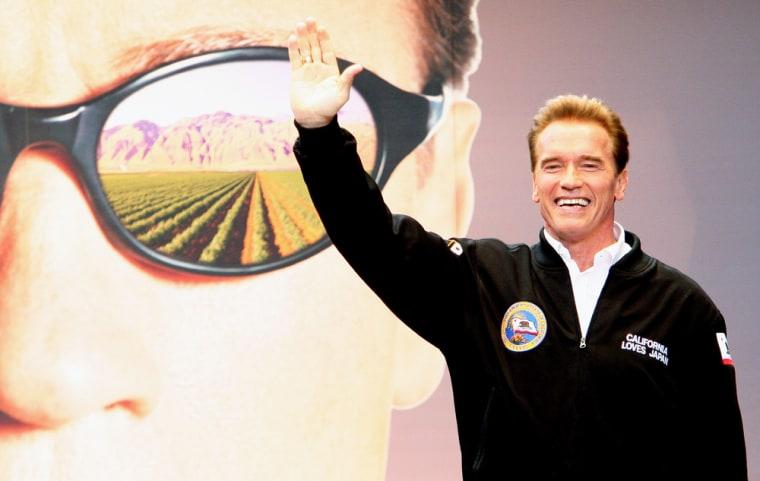 California Governor Arnold Schwarzenegger in Tokyo.