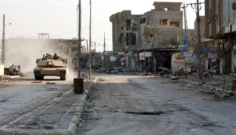 U.S Marines transition towards aid operations in Falluja