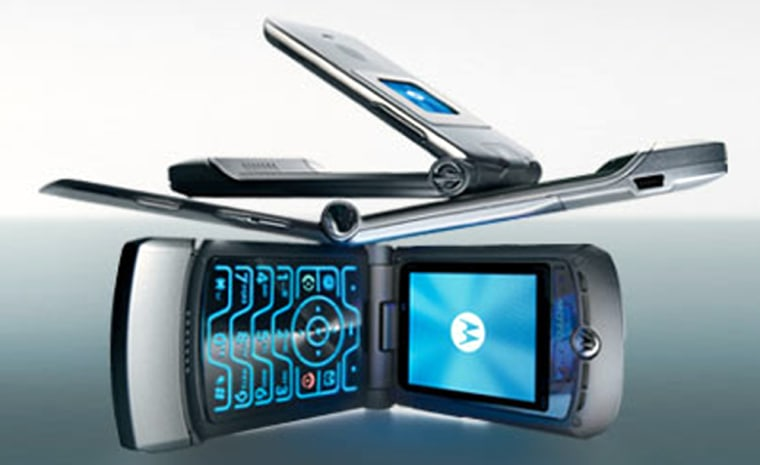 The ultra-cool Razr V3 GSM phone is available from Cingular Wireless for $499.