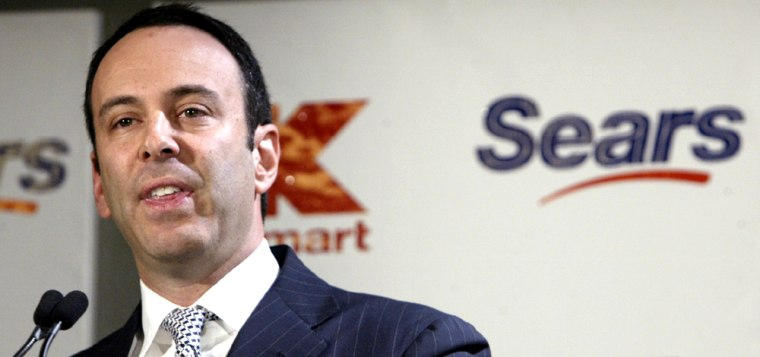 Kmart chairman Edward Lampert will bethe chairman of Sears Holdings.