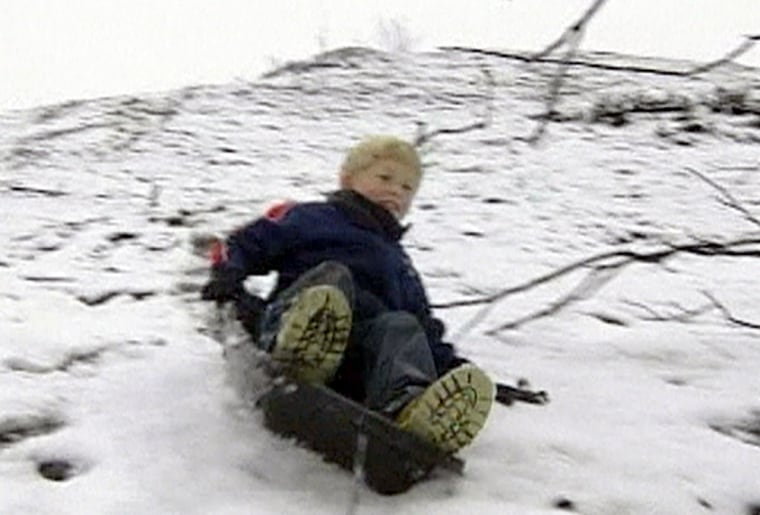 Southern California'sweekend snow surprisedlow-lying communities like Temecula, located southeast of Los Angeles, where kids made the most of it with sledding and snowball fights.