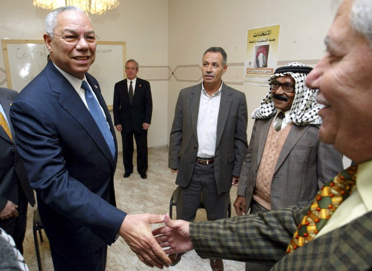 Powell Begins Peace Mission In Middle East