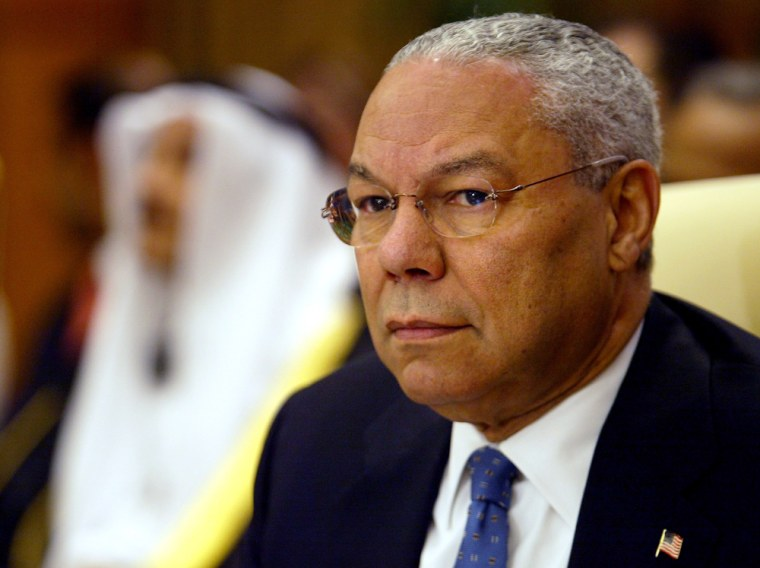 U.S. Secretary of State Colin Powellwas among the foreign ministers attending the conference on Iraq held TuesdayEgypt's Red Sea resort of Sharm el-Sheik.