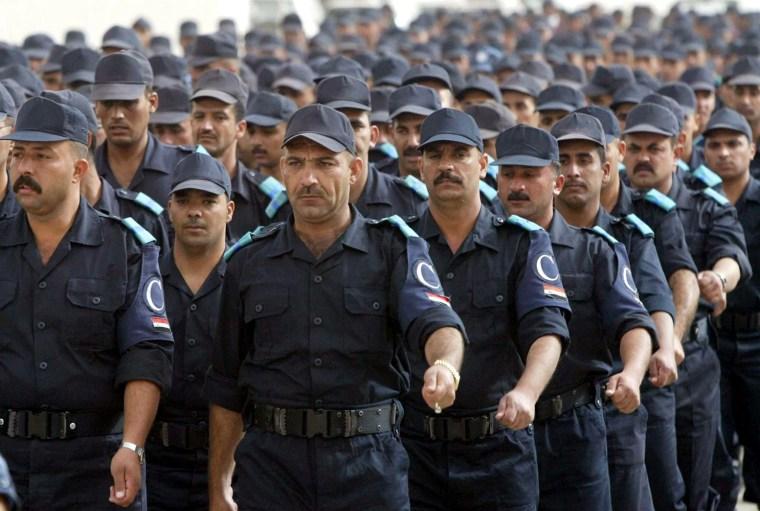 JORDAN IRAQ POLICEMEN