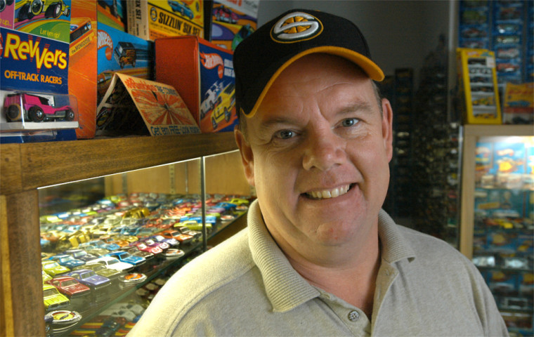Hot Wheels collector Mike Stevenson has about 30,000 of the toy cars.