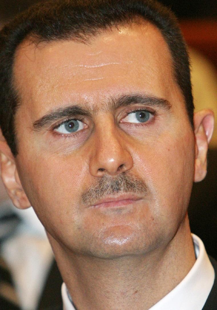 Syrian President Bashar al-Assad shown in recent file photo