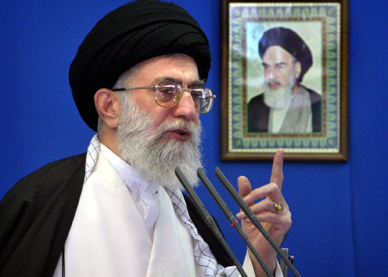 Irans Supreme Leader Ayatollah Khamenei speaks at Tehrans Friday prayers