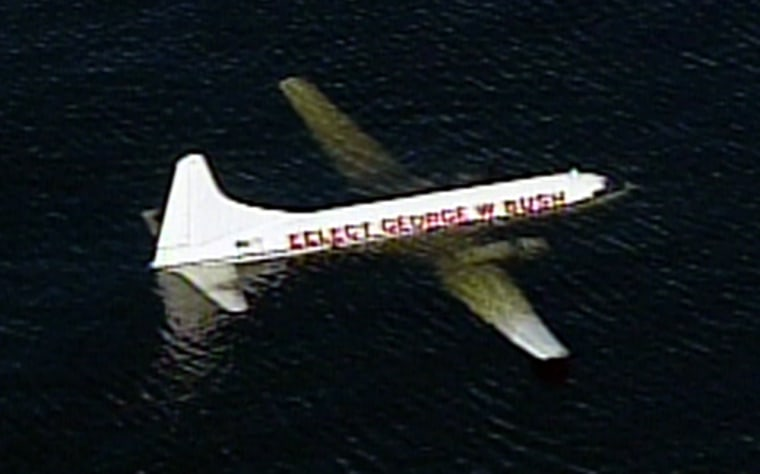 A Convair CV-340 cargo plane ditched in a Florida lake Saturday after experiencing engine trouble.