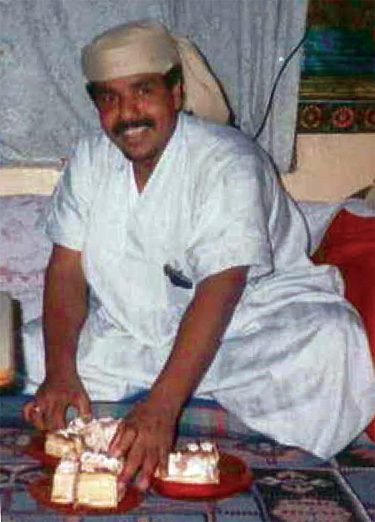 Salim Ahmed Hamdan, who for a time worked as Osamabin Laden's driver,is seen in anundated photo.