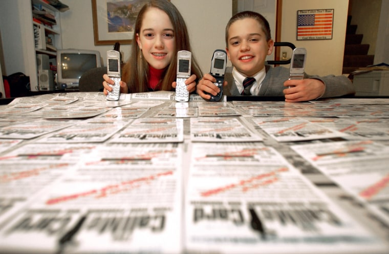 With $14 from their piggy banks,this brother and sisterstarted Cell Phones For Soldiers which provides prepaid calling cards for American soldiers.