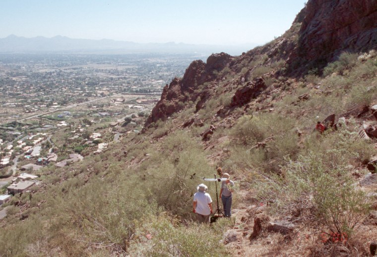 Amid the urban sprawl of greater Phoenix, several small mountains pop up, dotted by saguaros and preserved in their natural state.
