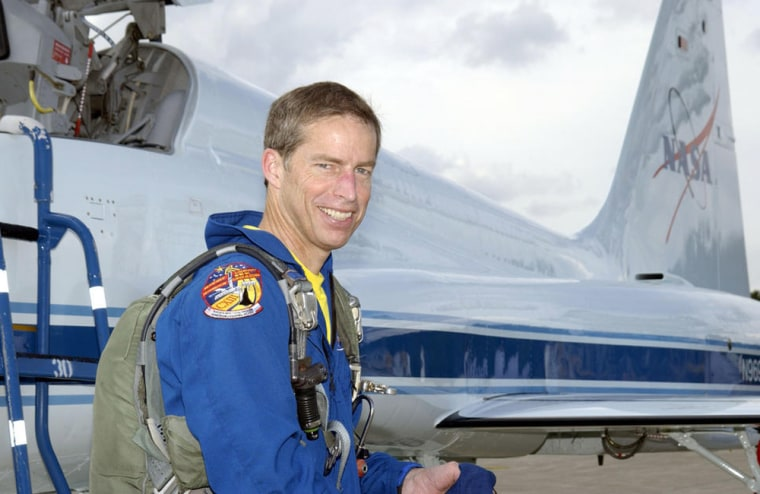 NASA astronautJames Wetherbee arrives at Kennedy Space Center for the launch of a November 2002 shuttle mission — his final spaceflight.