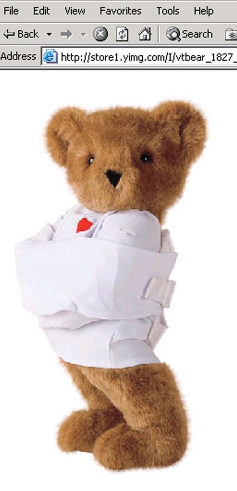 The 'Crazy for You Bear' comeswith commitment papers and is meant to convey out-of-control love.