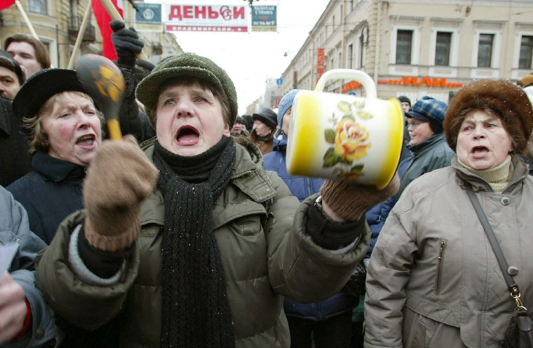 RUSSIA PENSIONERS PROTEST