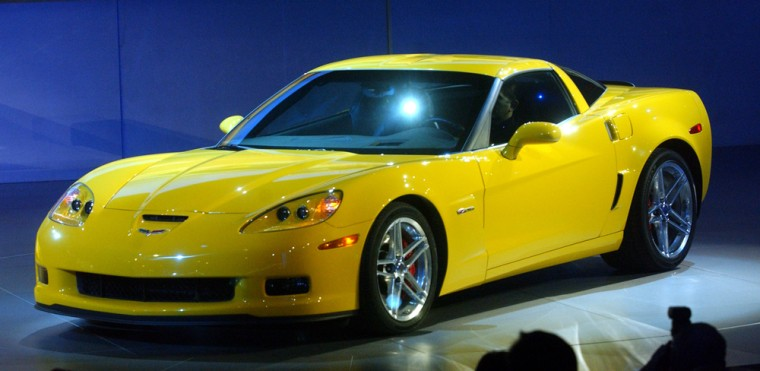 2006 Chevrolet Corvette Z06 is introduced at Auto Show in Detroit