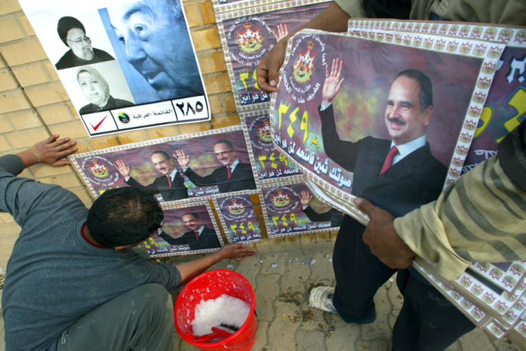 An election poster portraying Iraqi Prim