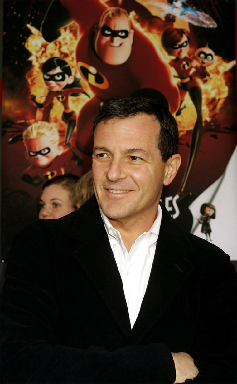 """Disney executive Robert Iger at the premiere of the new film \""""The Incredibles\"""" in Hollywood"""