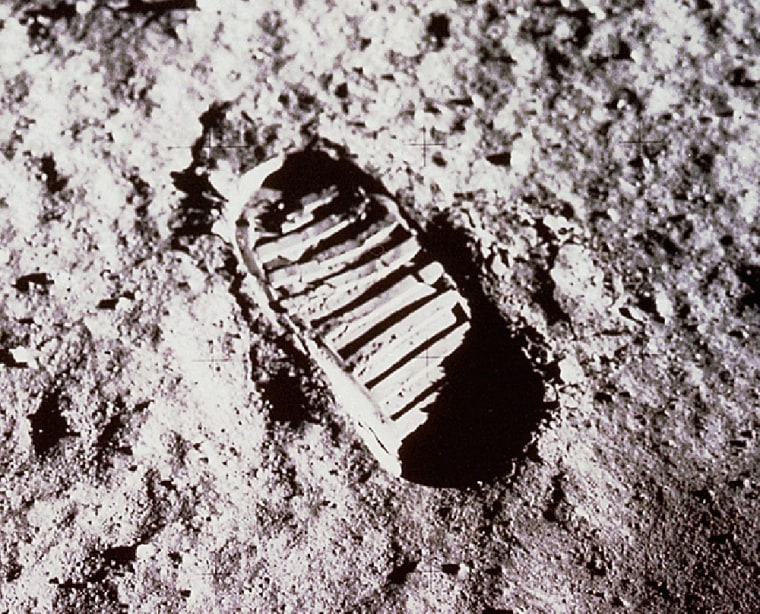 Apollo 11 moonwalker Buzz Aldrin took this picture of his footprint on the lunar soil on July 21, 1969, as part of a study to determine the characteristics of moon dirt. Now NASA is once again studying lunar soil properties.