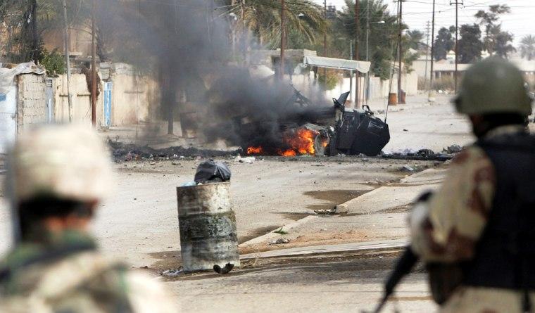 US Army Police Iraqi Election In Ramadi