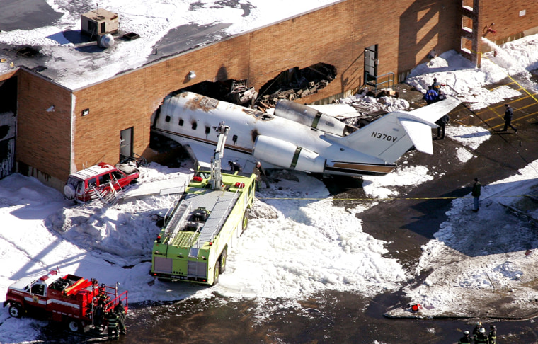 Plane Skids Off Runway And Crashes In New Jersey