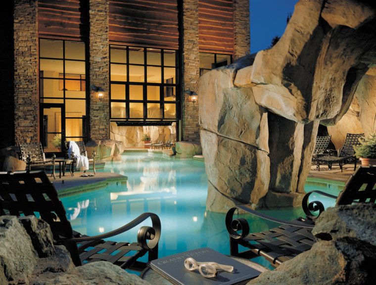Pool at night, Snake River Lodge