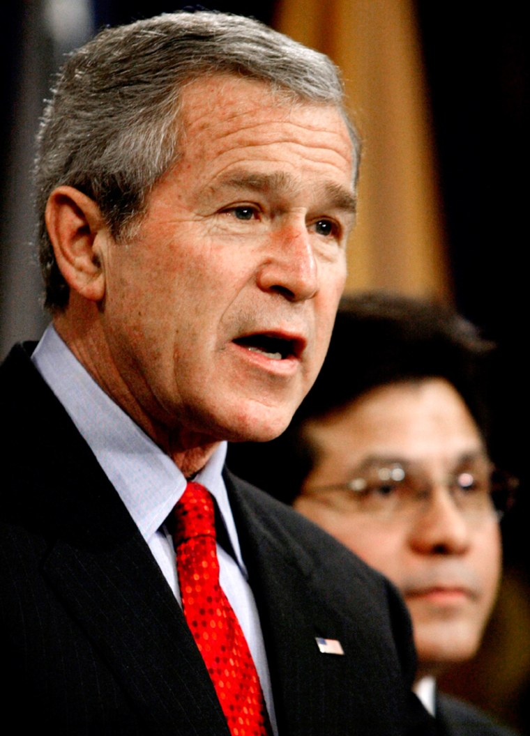 President Bush speaks about the Patriot Act