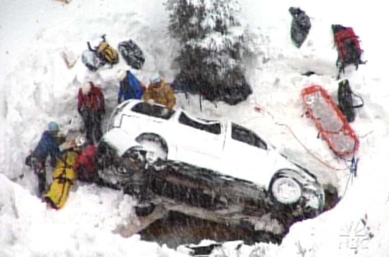 Five of six people in this minivan walked away with just bruises after plunging nearly 400 feet last Saturday in Colorado. The sixth person was carried out on a stretcher but, like the others, was at home that night.