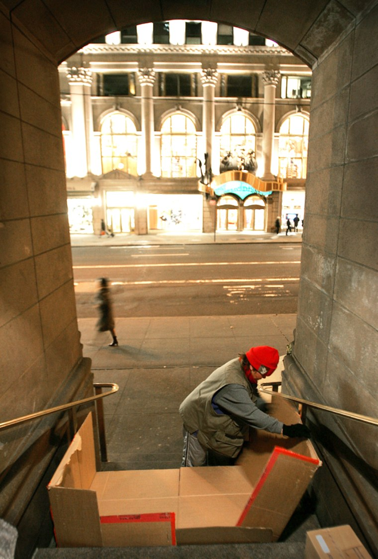 Homeless Woman Lives In The Shadow Of Wealth Along New York's 5th Ave