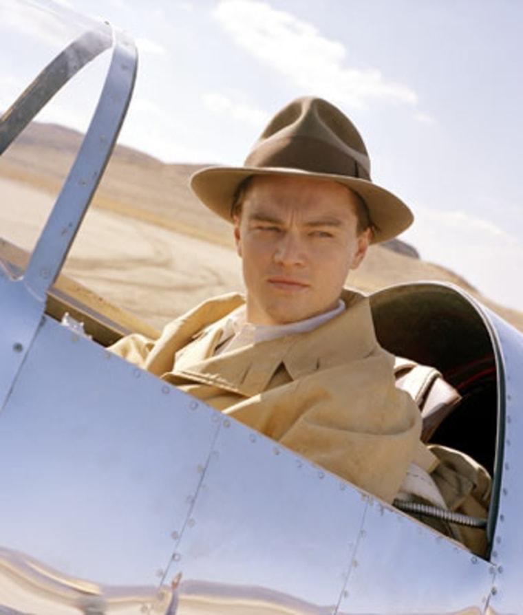 "Leonardo Di Caprio stars as playboy tycoon Howard Hughes in Martin Scorsese's epic""The Aviator.""Aero Telemetry, a Huntington Beach, Calif., based firm,built11 model airplanes especially for the movie."