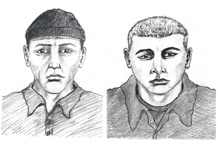 Authorities last week released sketches of two men seen near the home of U.S. District Judge Joan Humphrey Lefkow before her husband and mother were found murdered.