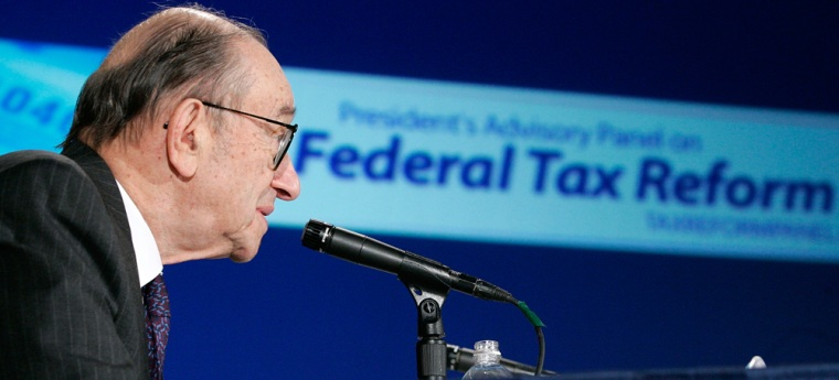 Fed Chairman Alan Greenspan Discusses Proposed Changes To U.S. Tax Code