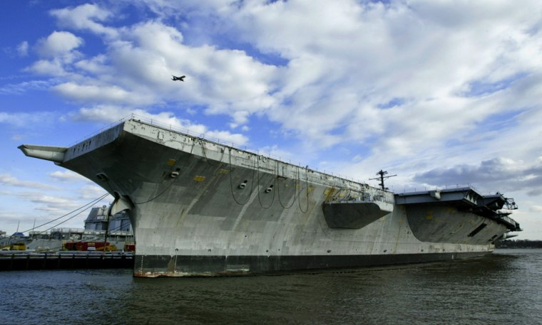 THE AIRCRAFT CARRIER USS AMERICA