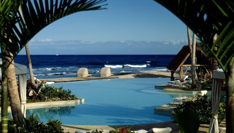 The view at the Asian-themed Four Seasons Hualalai is spectacular. The resort offers an extensive fitness program.