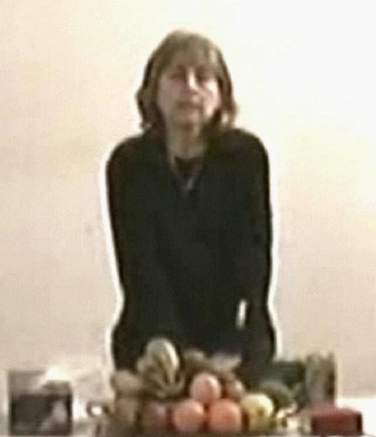 This TV grab footage taken 04 March 2005
