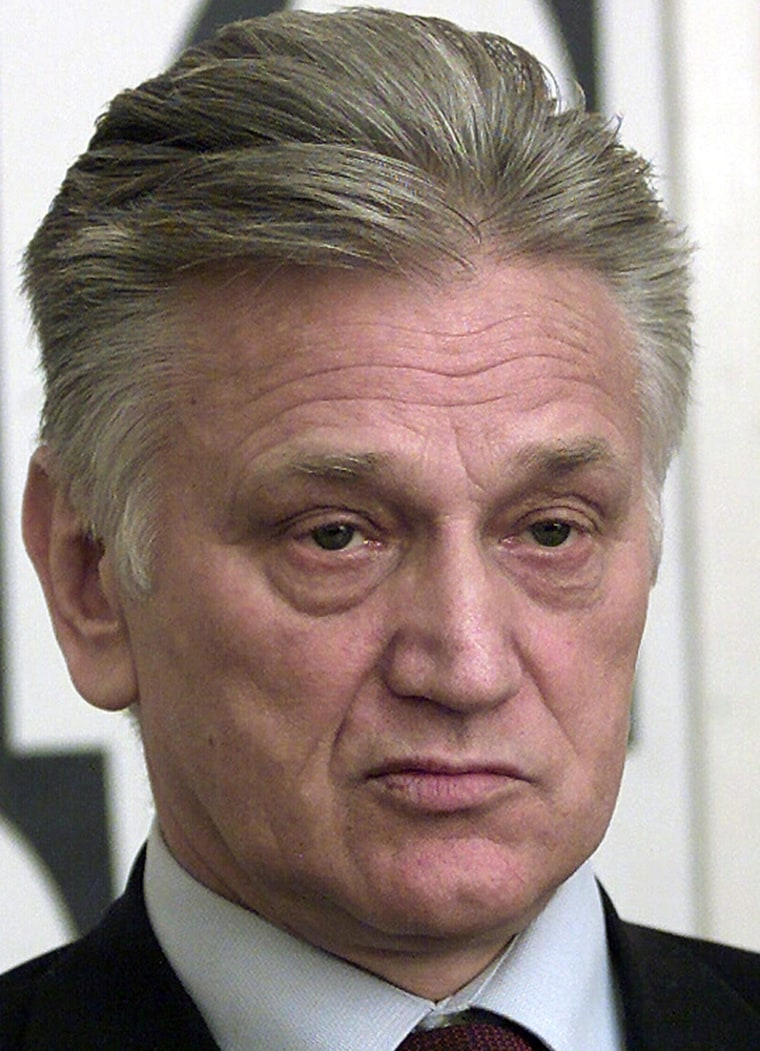 File photo of former Yugoslav army chief of staff Momcilo Perisic