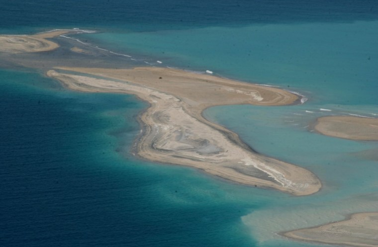 """Thes manmade islands are the first of many planned as part of """"The World,"""" an exclusive community off the coast of Dubai in the United Arab Emirates."""