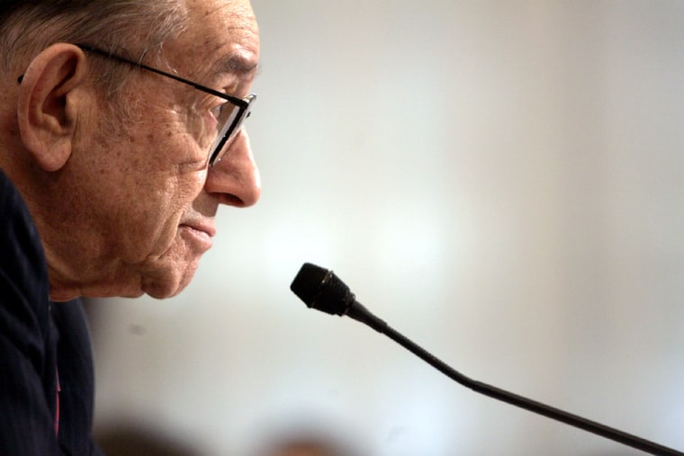 Alan Greenspan testifies before the House Budget Committee - Washington