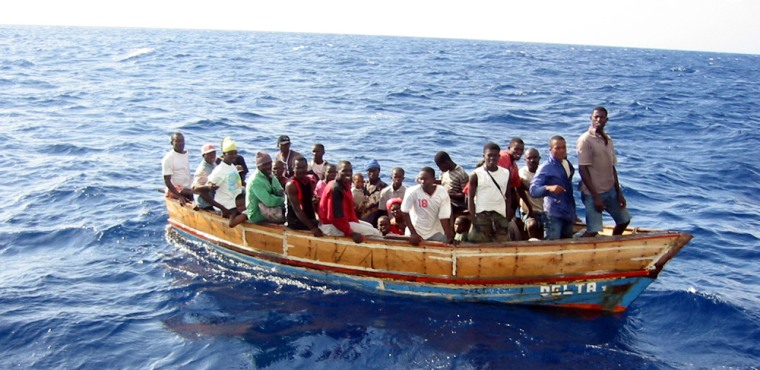 TheSSV Corwith Cramer came across the Haitians crowded onto a small open boatabout 45 miles north of Jamaica.