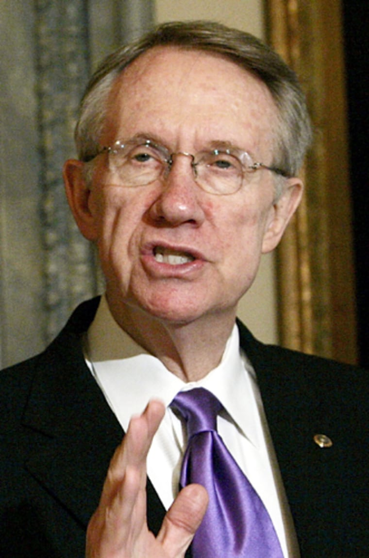 Harry Reid Collects Petitions Opposing Social Security Privatization