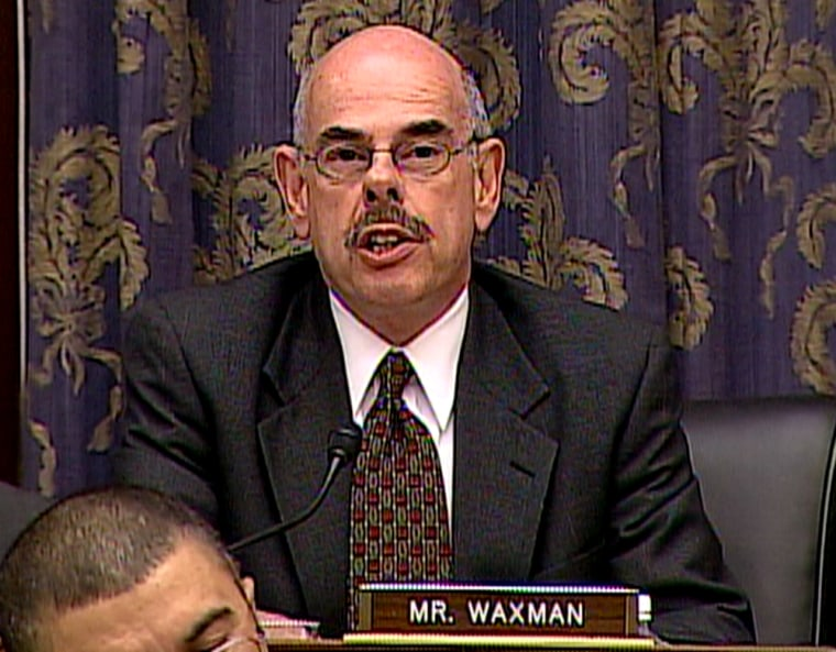 Rep. Henry Waxman, D-Calif., who will lead the Government Reform Committee when the Democrats take control of in January, willdecide whether to investigate certain aspects of theBush administration.