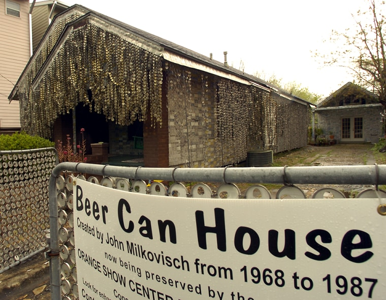 The Beer Can House in Houston will be restored witha $125,000 grant.