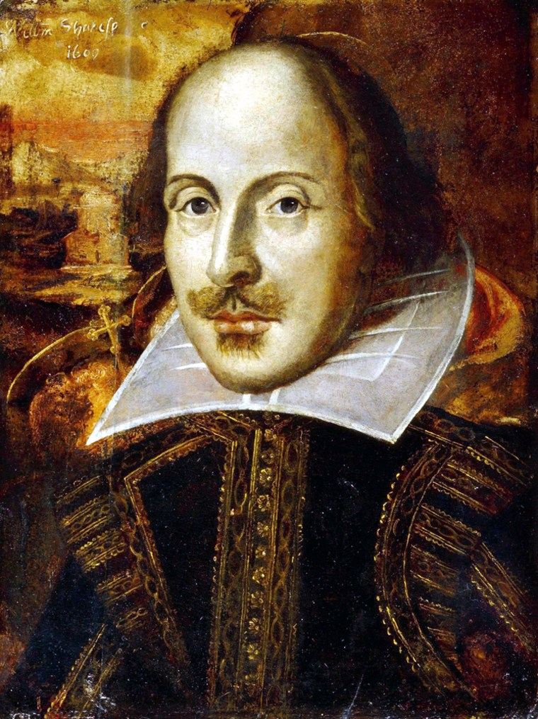 This picture released by Britain's National Portrait Gallery shows The Flower Portrait of William Shakespeare.
