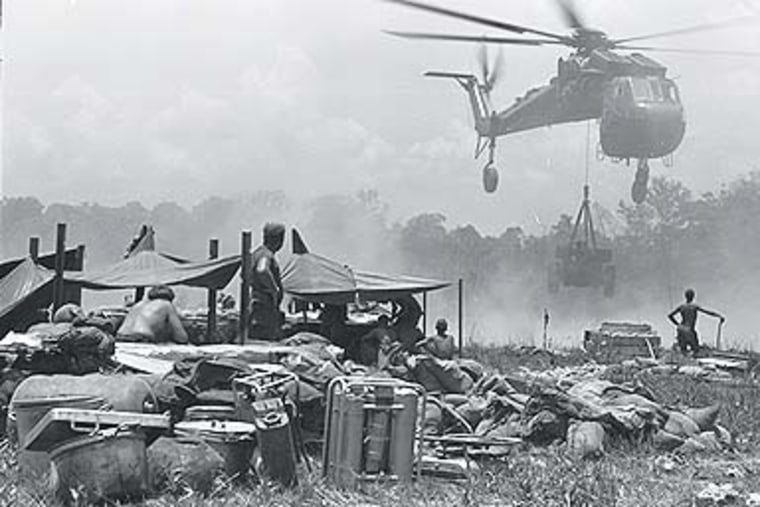 Staging area in Laos or Cambodia, 1969. Kenneth Hoffman, now a communications professor at Seton Hall University, took this and the other photos used in this story while serving with the U.S. Signal Corps in 1969.