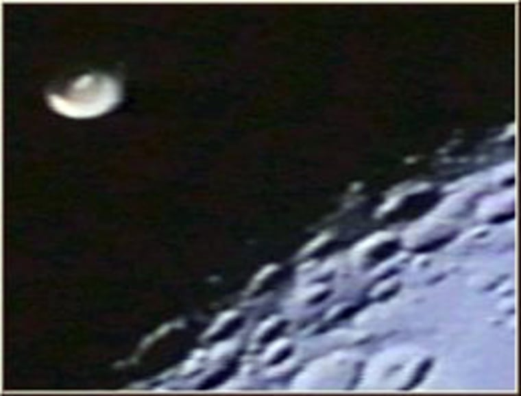 This photo from the Apollo 16 moon missionseems to show a flying saucer. What does the image actually show? (Answer on Page 2.)