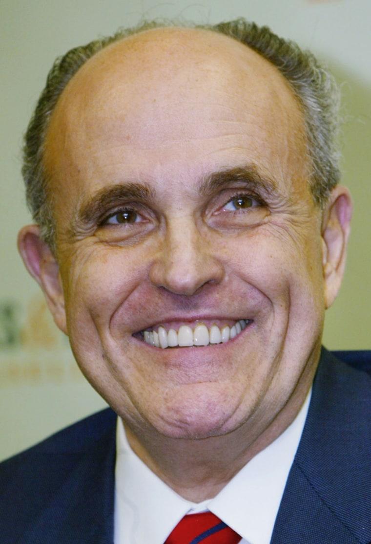 "Giuliani Signs Copies Of His Book \""Leadership\"""