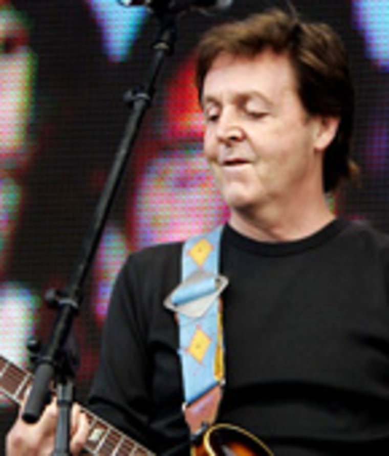 Britain's Sir Paul McCartney performs at the Live 8 concert in Hyde Park