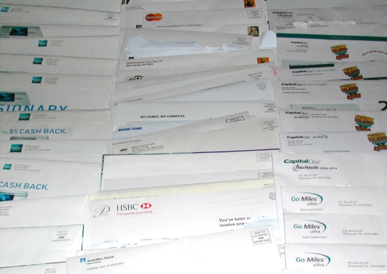 Daniel Solove's mailbox has been jammed with credit card applications.