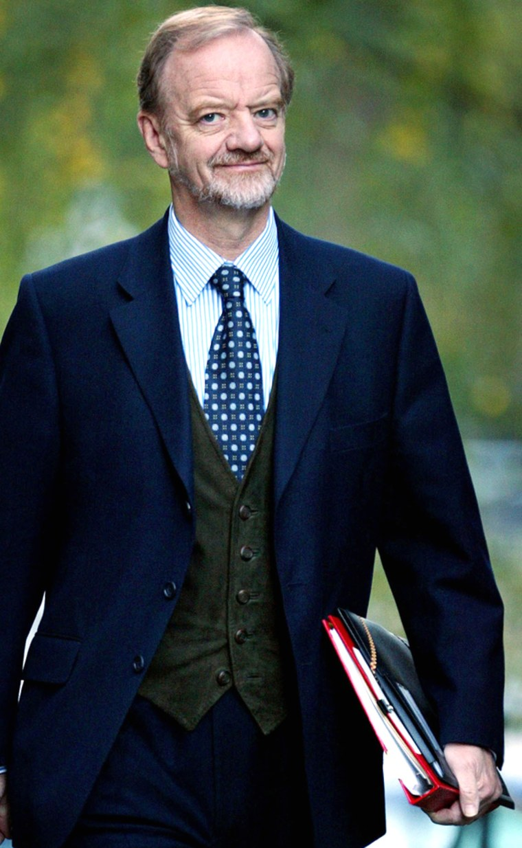 File photo of former foreign minister Robin Cook arriving for a cabinet meeting in Downing Street in central London