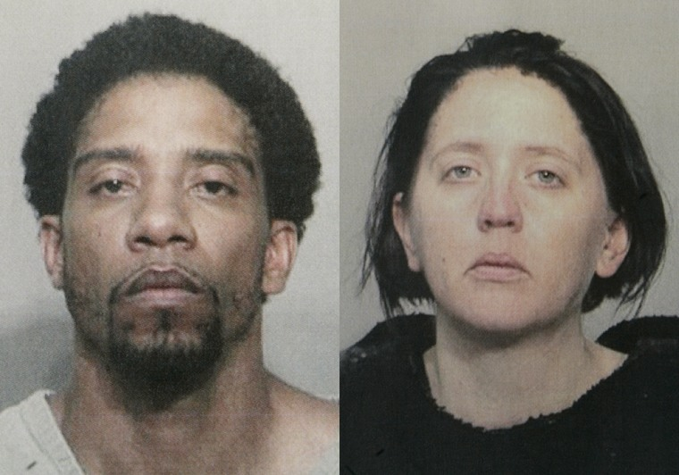 Fugitives George Hyatte and his wife, Jennifer Hyatte, seen here after dyeing her hair to disguise herself, were caught in Ohioafter a massive manhunt.